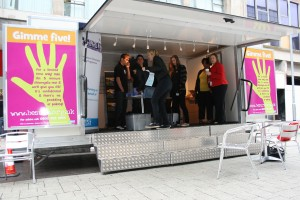 Chlamydia trailer in Birmingham city centre