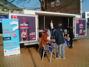 Enfield Stop Smoking trailer 12 March 2014